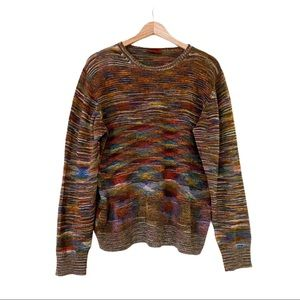 MISSONI Multicolor Stripe Wool Crewneck Sweater